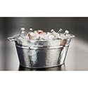 """American Metalcraft HMDOB19149 Party Tub, Hammered, 13-1/2"""" H"""