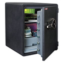 FireKing KY1915-1GRFL 1-Hour Fireproof Safe and Water Resistant with Fingerprint Recognition Lock