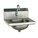 """Eagle Group HSA-10-FE-1X Hand Sink, wall mount, 13-1/2""""Wide x 9-3/4"""" front-to-back x 6-3/4"""" deep bowl"""