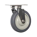 "Eagle Group CPS5P-300 Plate Caster, Swivel, 5"" wheel diameter"