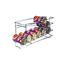 """Eagle Group CRC Can Storage Rack, wire, 7-3/4""""W x 27""""D x 11-1/2""""H"""
