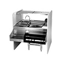 """Eagle Group CS42-32R Spec-Bar Cocktail Station, 32""""W x 42""""L, (2) 6""""D sinks with gooseneck T&S faucet (4"""" centers) on left & perforated lift out baskets"""