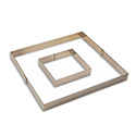 "Matfer 371108 Cake Frame, 10-3/4""L X 10-3/4""W 1-3/8""H (Interior Dimensions), Square, Bottomless"