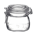 "Matfer 532524 Appetizer/Jam Jar, 22 Oz., 4-1/8"" Dia. X 4-1/8""H, With Clamp, EA of 6/PK"