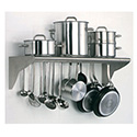 "Matfer 845608 Utensil Overshelf, 31-1/2""L, Wall Mounted, Slotted"