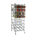 New Age Industrial 1250 Can Storage Rack, Stationary Design With Adjustable Feet, Sloped Glides For Automatic Can Retrieval