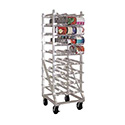 Can Storage Rack, Mobile Design With Casters, Sloped Glides For Automatic Can Retrieval
