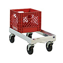 """Milk Crate Dolly, Open Frame, 13-3/4""""W X 9""""H X 28-1/4""""D"""
