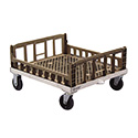 """Crisping Basket Dolly, 29-3/4""""W X 26-3/4""""D X 8""""H, Aluminum Construction"""