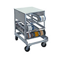 """Prairie View CR054C-36 - Can Rack, Mobile, Holds 54 #10 Cans, 25""""Wx36""""Dx36H, KD"""