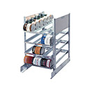 """Prairie View CR0720 - Can Rack, Stationary, Holds 72 #10 Cans, 25""""Wx36""""Dx40H, KD"""