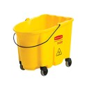 Rubbermaid FG747000 WaveBrake Yellow Mop Bucket (with 4 Casters)