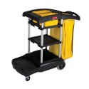 Rubbermaid FG9T7200BLA High Capacity Cleaning Cart