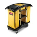Rubbermaid FG9T7900BLA Double Capacity Cleaning Cart