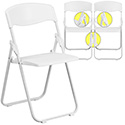 Flash Furniture Hercules Heavy Duty White Plastic Folding Chair