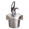 San Jamar P4710 FrontlineUniversal 7Qt. Round Cover And Pump System