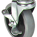 Carlisle SBCC24500 Fold 'N Go Cart Replacement Caster, Swivel with Brake
