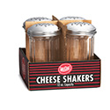 Tablecraft C800-4 12 Oz/340 G Perforated Top Cheese Shaker, 4 Pk