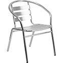 Flash Furniture TLH-017B-GG Aluminum Slat Back Indoor-Outdoor Restaurant Chair