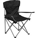Folding Camping Chair with Drink Holder in Black