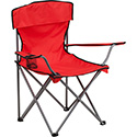 Folding Camping Chair with Drink Holder in Red