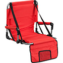 Folding Stadium Chair in Red