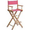 Bar Height Directors Chair in Pink