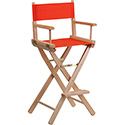Bar Height Directors Chair in Red