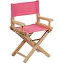 Kid Size Directors Chair in Pink
