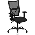 HERCULES Series 400 lb. Capacity Big & Tall Black Mesh Executive Swivel Office Chair with Height Adjustable Arms