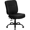 HERCULES Series 400 lb. Capacity Big & Tall Black Leather Executive Swivel Office Chair with Extra WIDE Seat