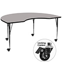 Flash Furniture XU-A4872 Kidney Shaped Activity Table, 48''W x 72''L