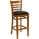 Flash Furniture Hercules Ladder Back Wood Bar Stool