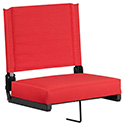 Game Day Seats by Flash with Ultra-Padded Seat in Red