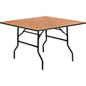 "Flash Furniture YT-WFFT48-SQ-GG 48"" Square Wood Folding Banquet Table"