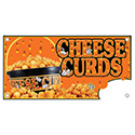 """Berk Concession Supply 8011194 12"""" x 24"""" Cheese Curds Sign"""