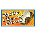 """Berk Concession Supply 8011086 12"""" x 24"""" Philly Cheese Steak Sign"""