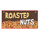 """Berk Concession Supply 8011083 12"""" x 24"""" Roasted Nuts Sign"""