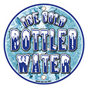 """Berk Concession Supply 8011142 12"""" Bottled Water Round Signs, CS of 2/EA"""