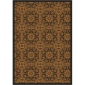 "Joy Carpets 1737G-02 Antique Scroll Area Rug, 10'9"" x 13'2"", Rectangular, Brown"