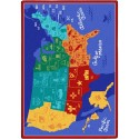 "Joy Carpets 1869D States of the Nation Area Rug, 7'8"" x 10'9"", Rectangular, Multi-Colored"