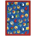 "Joy Carpets 1491D Children of the World Area Rug, 7'8"" x 10'9"", Rectangular, Multi-Colored"