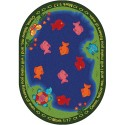 "Joy Carpets 1550DD Fishers of Men Area Rug, 7'8"" x 10'9"", Oval, Multi-Colored"