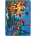 "Joy Carpets 1587G Fish Tales Area Rug, 10'9"" x 13'2"", Rectangular, Multi-Colored"