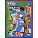 """Joy Carpets 1787C Library Day Area Rug, 5'4"""" x 7'8"""", Rectangular, Multi-Colored"""