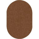 Joy Carpets 80QQ-10 Endurance Area Rug, 6' x 9', Oval, Brown