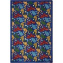 "Joy Carpets 52G Animal Crackers Area Rug, 10'9"" x 13'2"", Rectangular, Multi-Colored"