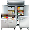 Pass-Thru Refrigerator - Two Section, Full Height, Solid Door